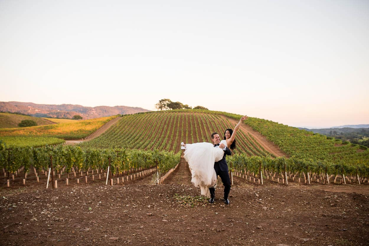 A wine country wedding // Sharon and Jeff